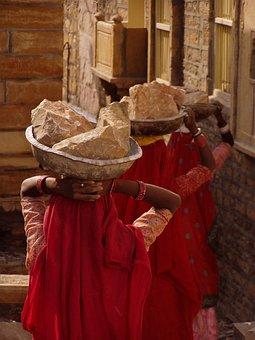 Women's Work, Women, Stones, Indian Woman