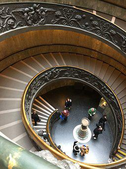 Vatican, Spiral Steps, Rome, Staircase, Old, Italian