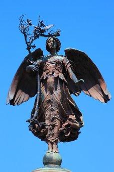 Statue, Bronze, Sculpture, Lady, Woman, Ancient
