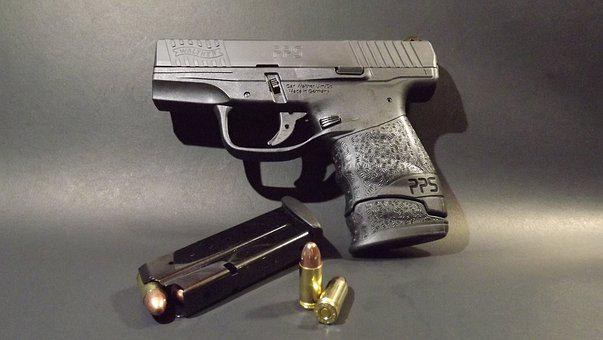 Pistol, Magazine, Bullets, 9mm, Walther
