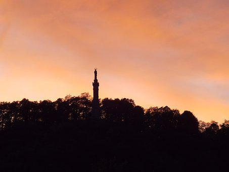 Trier, Afterglow, Marian Column, May