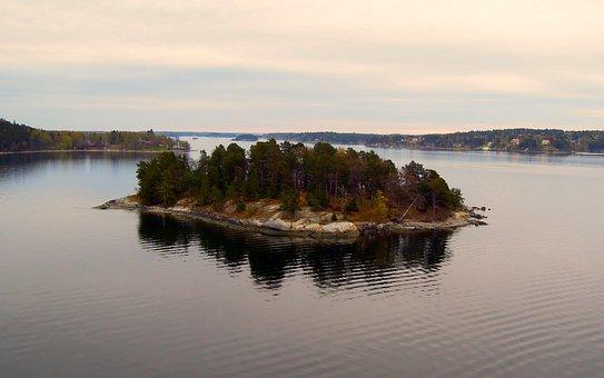 Island, Sea, Calm, One, Seascape, Journey, Clear Sea