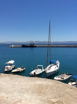 Boats, Harbor, Crete, Fishing, Port, Sea