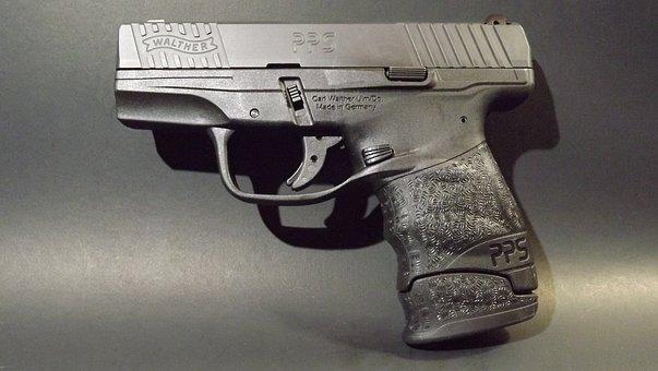 Pistol, Semi-auto, Handgun, Firearm, 9mm, Protection