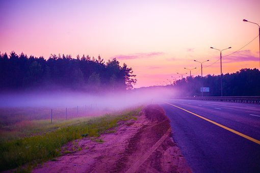 Fog, Road, Mkad, Motion, The Way, Nature, Summer