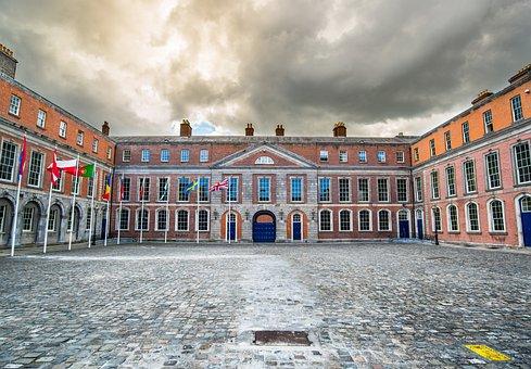 Dublin, Castle, Ireland, Travel, Landmark, City