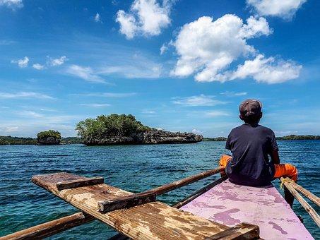 Boatmen, Island, Guimaras, Summer, Ocean, Travel, Water