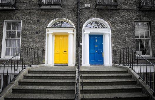 Dublin, Ireland City, Urban, Buildings, Brick, Condos