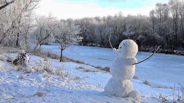 Winter, Snowman, Snow, Nature, White, Christmas