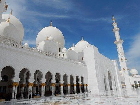 Abu Dhabi, Mosque, Emirates, Architecture, Islam, U A E