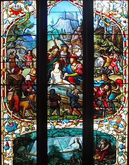 Biarritz, Stained Glass, Snow White, Field Of Francon