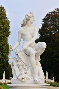 Sanssouci, Palace, Potsdam, Germany, Architecture, Park