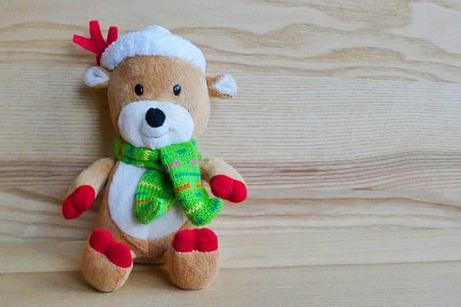Reindeer, Toy, Stuffed, Christmas, Holiday, Xmas