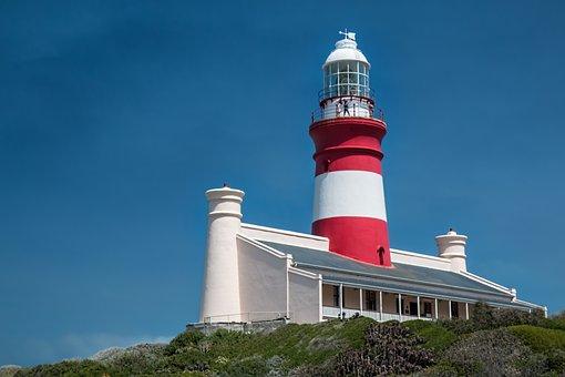 Lighthouse, Coast, Warning, Sea, Sky, Landscape, Ocean
