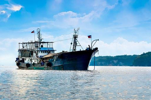 Sea, Ship, Philippines, Blue, Water, Travel, Nautical