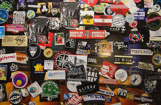 Stickers, Door, Promotion, Marketing, Bar, Pub, Sign