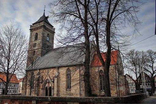 Church, Volkmarsen, Bell Tower, Holy, House Of Worship