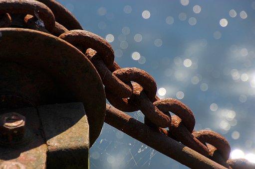 Chain, Rusty, Metal, Old, Steel, Link, Metallic