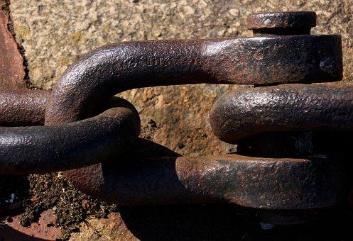 D Shackle, Chain, Rusty, Steel, Metal, Iron, Metallic