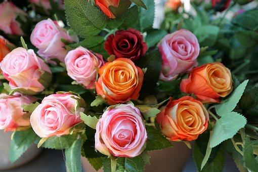 Plastic, Flower, Rose, Artificial, Decoration, Art