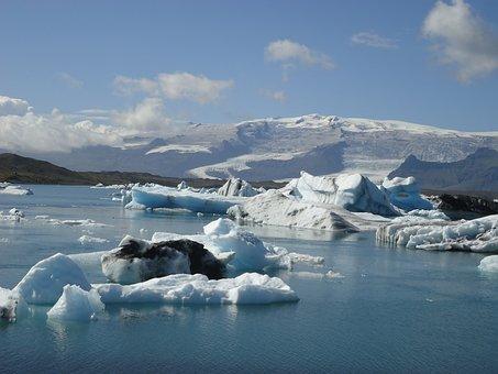 Glacier, Lake, Iceland