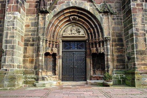 Church, Input, Door, Ornament, Facade, Church Door
