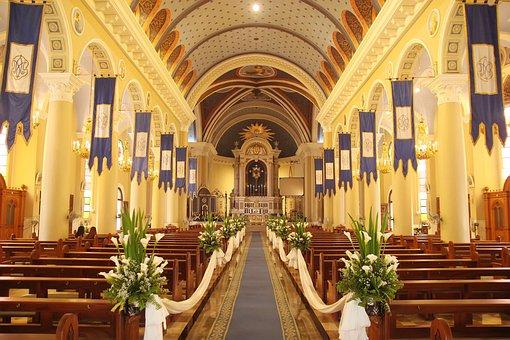 Church, Wedding, Bride, Marriage, Groom, Couple