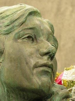Art, Sculpture, Statue, Monument, Angel, Bust, Artist