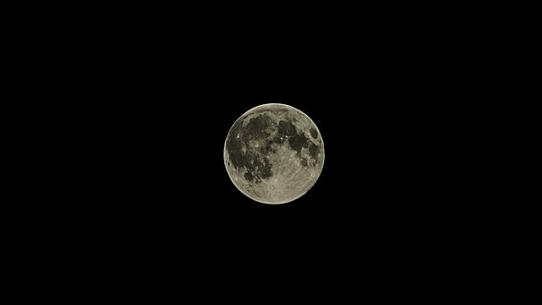 Full Moon, Moon, Astronomy, Night, Sky