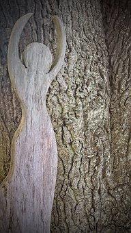 Oak, Holzfigur, Art, Machined Oak Wood, Human Body, Log