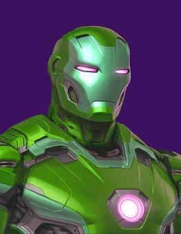 Iron Man, Pop Art, Digital Art