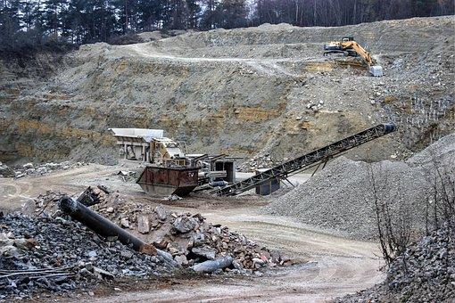 Quarry, Crusher, Concrete, Removal, Excavators