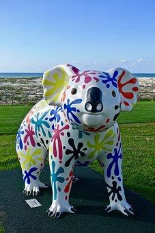 Koala, Statue, Decoration, Art, Sculpture, Symbol