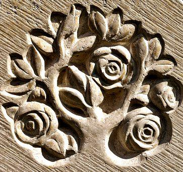 Tree Of Life, Art, Stone, Sculpture, Relief