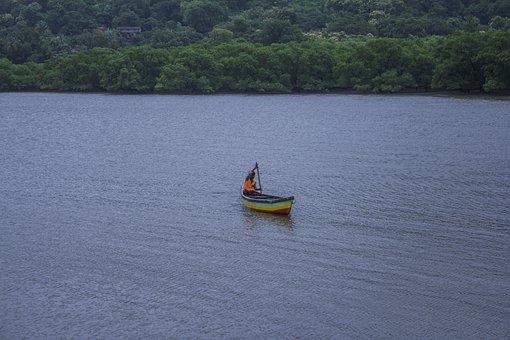 Fisherman, Boat, Water, Fishing, Nature, Fish, River