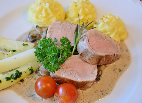 Pork Tenderloin, Duchess Potato, Potatoes, Asparagus