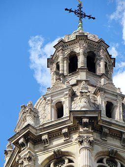 Paris, Trinity, Church, Belfry, Bell Tower, Sculptures