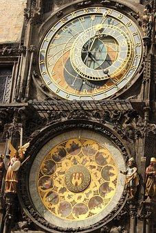 Prague, Clock, Tower, Medieval, Bell Tower
