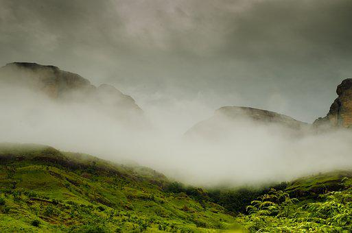 Mountains, Drakensberg Mountains, South Africa, Clouds