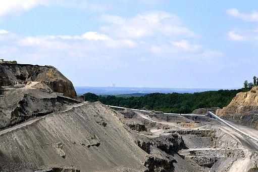 Quarry, Piesberg, Coal Mine, Sky, Stone Industry