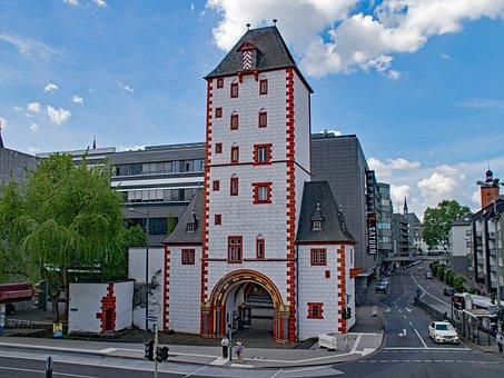 Wooden Gate, Mainz, Sachsen, Germany, Europe