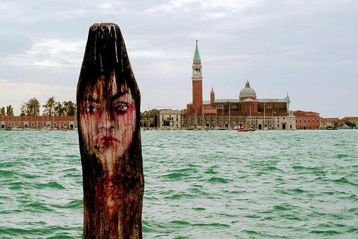 Venice, Channel, Church, Bell Tower, Italy, Lagoon