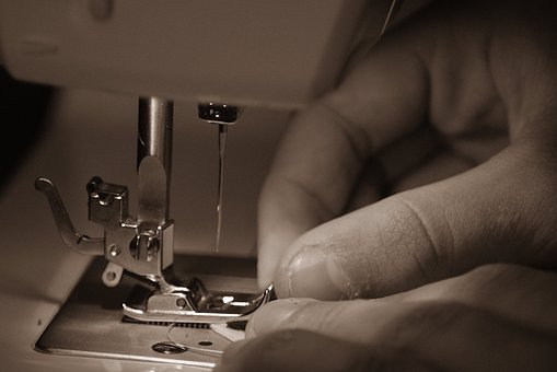 Sewing, Machine, Hand, Needle, Thread