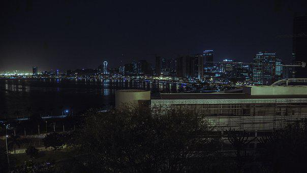 Baia De Luanda, Angola, Night