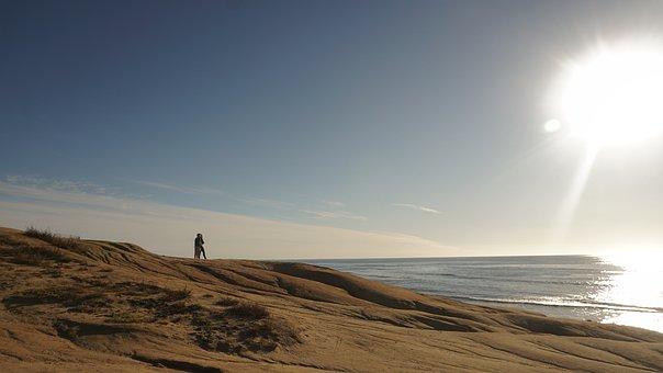 Sea, Sunshine, Beach, Sky, Landscape, Secretary, Solar