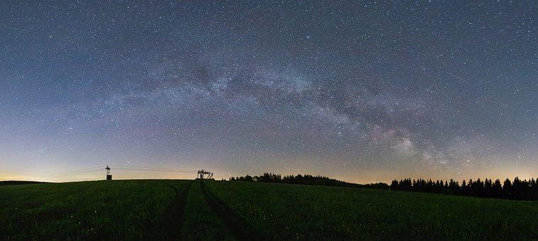Milky Way, Panorama, Astro, Night, Starry Sky, Star