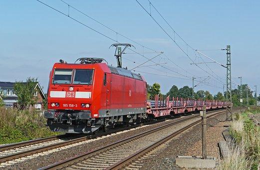 Modern Freight Train, Steel Slabs, Heavy Traffic