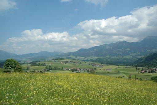 Obermaiselstein, Alpine Wildlife Park, View, Mountains