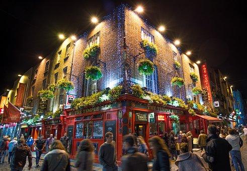 Temple Bar, Pub, Bar, Beer, Cafe, Dublin, Drink