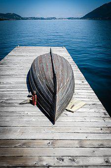Boot, Web, Lake, Water, Jetty, Investors, Wood